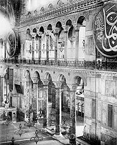 Constantinople (Istanbul, Turkey). Inside of the Holy - Sophie church ( 532-537 ). Ephèse's columns. RV40029 © Roger-Viollet