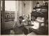 Foujita (1886-1968), Japanese-born French painter, at his place, in Montparnasse. Paris, 1924.  © Albert Harlingue / Roger-Viollet