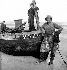 Pêcheurs de Boulogne-sur-Mer (Pas-de-Calais). Début du XXème siècle. © Roger-Viollet