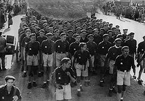 Spanish Civil War (1936-1939). Rally of Falangists in Madrid (Spain). © LAPI/Roger-Viollet