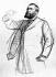 Jean Jaurès (1859-1914), homme politique français, au procès d'Alfred Dreyfus (1859-1935), 1899.  © Roger-Viollet