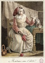 Anonymous. Mrs sans culotte. Coloured etching, 1792. Paris, musée Carnavalet.   © Musée Carnavalet/Roger-Viollet