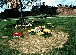 Tombe d'Ayrton Senna (1960-1994), coureur automobile brésilien. Sao Paulo (Brésil), 1994. © Ullstein Bild / Roger-Viollet