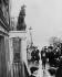 Emmeline Pankhurst (1858-1928), suffragette britannique, faisant un discours au nom de l'Union Féminine Sociale et Politique. 1914. © Ullstein Bild/Roger-Viollet