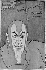 """Maurice Renaud (1861-1933), chanteur français, dans le rôle de Mephisto de """"La Damnation de Faust"""" d'Hector Berlioz. Dessin d'Orens (1905). © Roger-Viollet"""