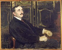 """Jacques-Emile Blanche (1861-1942). """"Portrait de Paul Claudel"""", 1919. Rouen, Musée des Beaux-Arts. © Roger-Viollet"""