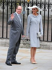 Le prince Albert II de Monaco (né en 1958) et sa fiancée, Charlene Wittstock (née en 1978), ancienne nageuse sud-africaine, lors du mariage du prince William et de Catherine Middleton. Londres (Angleterre), abbaye de Westminster, 29 avril 2011. © TopFoto / Roger-Viollet