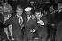 Claude François (1939-1978), French singer, Harold Nicholas (1921-2000), American singer, actor and dancer, and Claude Nougaro (1929-2004), French singer. Paris, Club Saint-Hilaire nightclub, 1963. © Roger-Viollet