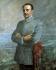 Francisco Franco (1892-1975), général et homme d'Etat espagnol, en uniforme du directeur de l'académie militaire générale. Huile sur toile. Saragosse (Espagne), Academia General Militar. © Iberfoto / Roger-Viollet