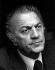 Federico Fellini (1920-1993), scénariste et réalisateur italien. Années 1980. Photographie de Horst Tappe (1938-2005). © Fondation Horst Tappe / KEYSTONE Suisse / Roger-Viollet