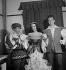 """Le Chevalier Bayard"" by André Hornez. Music by Paul Misraki and Bruno Coquatrix. Ludmilla Tcherina, Yves Montand and Henri Salvador. Paris, théâtre de l'Alhambra, September 1948. © Studio Lipnitzki/Roger-Viollet"