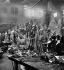 Abattoirs de Paris. La vente au détail, vers 1890-1900. Vue stéréoscopique. © Léon et Lévy/Roger-Viollet