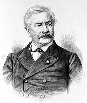 Ferdinand de Lesseps (1805-1894), French diplomat and administrator, director of the Compagnie du canal de Suez. © Roger-Viollet
