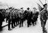 Guerre 1914-1918. Le Premier ministre britannique David Lloyd George (1863-1945) inspectant le régiment du Cheshire de la Garde d'Honneur à Birkenhead (Merseyside, Grande-Bretagne), 7 septembre 1917. © TopFoto/Roger-Viollet