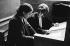 Gisèle Halimi (1927-2020), Tunisian-born French lawyer, feminist activist and politician, during a divorce lawsuit. Paris lawcourts, 1970's. Photograph by Janine Niepce (1921-2007). © Janine Niepce / Roger-Viollet