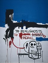 Jean-Michel Basquiat (1960-1988). To repel ghosts. Acrylic on canvas, 1986. Barcelona (Spain), Museum of Contemporary Art. © Iberfoto / Roger-Viollet