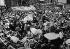 Guerre sino-japonaise. Réfugiés chinois entassés dans la concession internationale de Shanghaï. 1937. © Roger-Viollet