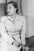 Billie Holiday (1915-1959), chanteuse de jazz américaine, 23 mars 1949. © Ullstein Bild / Roger-Viollet