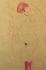 Gustav Klimt (1862-1918). Nus dont un homme enlaçant une femme enceinte. Dessin au crayon rouge, 1900. © Imagno/Roger-Viollet