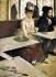 """Edgar Degas (1834-1917). """"Dans un café"""" ou """"L'absinthe"""". Portrait d'Ellen Andrée et Marcellin Desboutin. Huile sur toile, 1875-1876. Paris, musée d'Orsay. © Iberfoto / Roger-Viollet"""