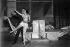"""""""Aubade"""". Ballet de George Balanchine. Livret et musique de Francis Poulenc. Vera Nemchinova et Francis Poulenc. Paris, Théâtre des Champs-Elysées, 1930. © Boris Lipnitzki/Roger-Viollet"""