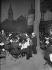 Dinner at the place du Tertre, in Montmartre. Paris (XVIIIth arrondissement), on July 14, 1923. © Albert Harlingue / Roger-Viollet