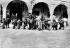 American intervention in Mexico. The US naval guns in Veracruz. 1914. © Albert Harlingue/Roger-Viollet