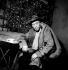 """Louis Jouvet in """"La Folle de Chaillot"""" by Jean Giraudoux. Paris, théâtre de l'Athénée, December 1945. © Studio Lipnitzki / Roger-Viollet"""