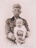 Victor-Emmanuel III de Savoie (1869-1947), roi d'Italie, et son neveu Victor-Emmanuel de Savoie (né en 1937). © Alinari / Roger-Viollet
