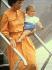 Le prince William (né en 1982), dans les bras de sa nourrice, Barbara Barnes.  © TopFoto/Roger-Viollet