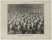 Honoré Daumier (1808-1879). Memory from the Festival of choral societies. Lithograph. Paris, musée Carnavalet.  © Musée Carnavalet/Roger-Viollet