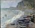 """Claude Monet (1840-1926). """"Etretat, la plage et la porte d'Amont"""", 1883. Paris, musée d'Orsay.    © Roger-Viollet"""