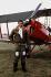 """Le prince Charles (né en 1948), posant devant un biplan """"Tiger Moth"""". Base de la Royal Air Force de Benson (Angleterre), 30 juillet 1979. © PA Archive/Roger-Viollet"""