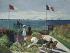 """Claude Monet (1840-1926). """"Terrasse à Sainte-Adresse"""" Seine-Maritime (France). Huile sur toile, 1867. New York (Etats-Unis), Metropolitan Museum of Art. © Iberfoto / Roger-Viollet"""