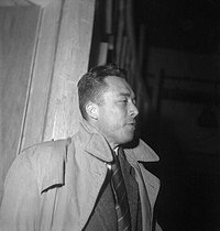 Albert Camus (1913-1960), French writer. Paris, 1950. © Roger-Viollet