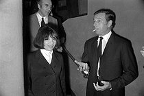 Michel Piccoli, Juliette Gréco and Yves Montand.  © Roger-Viollet