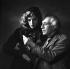 Abel Gance (1889-1981), French director and Nelly Kaplan (born in 1936), Argentinian-born French director and writer. November 1956. © Boris Lipnitzki/Roger-Viollet