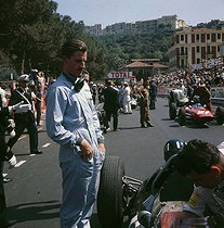 Graham Hill (1939-1975), pilote de course britannique. Grand prix automobile de Monaco, 1963.    © Roger-Viollet