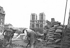 Elargissement du Pont Notre-Dame. Paris, 1940. © LAPI / Roger-Viollet