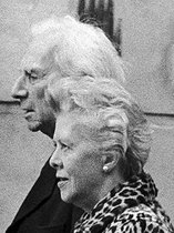 Bertrand Russell (1872-1970), British philosopher, and his wife Edith Finch (1900-1978). © Jack Nisberg / Roger-Viollet