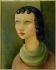 """Moïse Kisling (1891-1953). """"Tête de femme"""", vers 1950. Huile sur toile. Paris, musée d'Art moderne. © Musée d'Art Moderne/Roger-Viollet"""