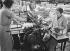 Paper mills. Publishing industry. Sewing machine. Malakoff (France). Company: Entreprise P. et H. Engel. 1931-1934. Photograph by François Kollar (1904-1979). Paris, Bibliothèque Forney. © François Kollar/Bibliothèque Forney/Roger-Viollet