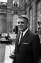 Robert Boulin (1920-1979), French politician and minister, after a Cabinet meeting at the Elysee Palace. Paris, on July 17 ,1968.  © Roger-Viollet