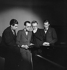 Jean-Yves Daniel-Lesur, Olivier Messiaen, André Jolivet and Yves Baudrier, French composers. Paris, May 1937. © Boris Lipnitzki / Roger-Viollet