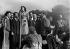 Edith Piaf (1915-1963), French singer, and the Compagnons de la chanson. France, 1948. © Collection Roger-Viollet / Roger-Viollet