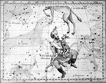 "Lynx, Auriga, Camelopardalis and Perseus, constellations. Engraving in the ""Atlas"" by John Flamsteed (1646-1719).   © Roger-Viollet"