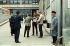 """Evènements de mai-juin 1968. Ventes de l''hebdomadaire """"La Vie Ouvrière"""" dans l''usine Citroën. Paris, mai 1968. Photographie de Georges Azenstarck (né en 1934). © Georges Azenstarck / Roger-Viollet"""