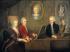 Leopold Mozart et ses enfants Wolfgang et Nannerl au piano, avec, au mur, le portrait de leur défunte mère. Huile sur toile de Johann Nepomuk Della Croce, vers 1780. © Imagno / Roger-Viollet