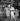 """""""Porgy and Bess"""" de George Gershwin. La Verne Hutcherson (à gauche, Porgy), Urylee Leonardos (Bess), Cab Calloway et X. Paris, Théâtre de l'Empire, février 1953. © Boris Lipnitzki / Roger-Viollet"""