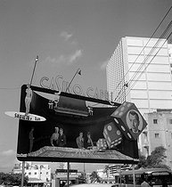 "Billboard for the casino ""Capri"". Havana (Cuba), March 1959. © Roger-Viollet"